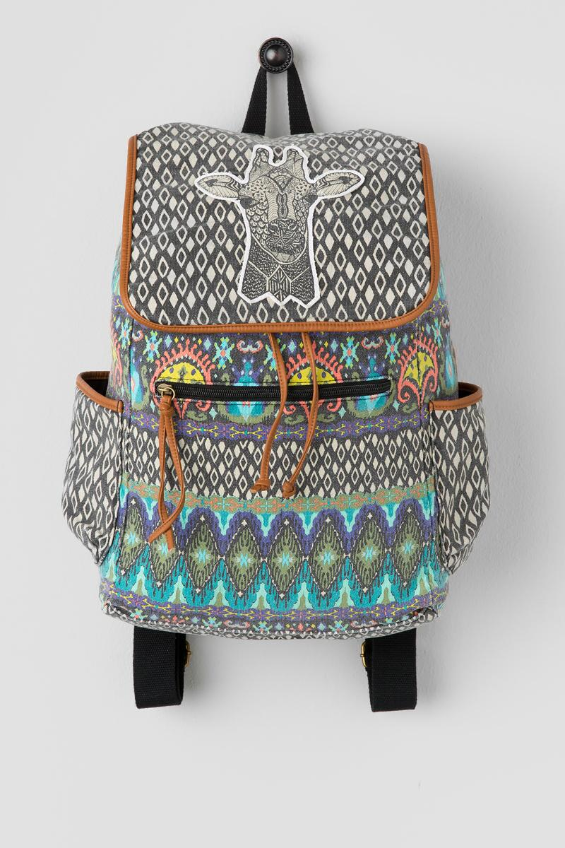 Giraffe Canvas Backpack