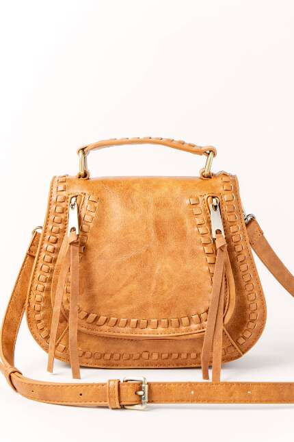 Whipstitch Top Handle Crossbody