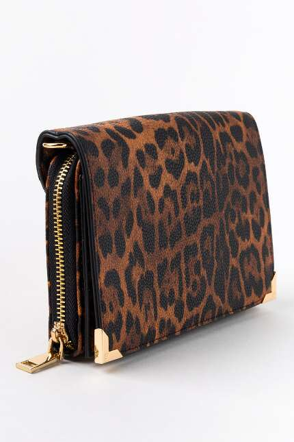 Wendy Leopard Zip Around Wallet