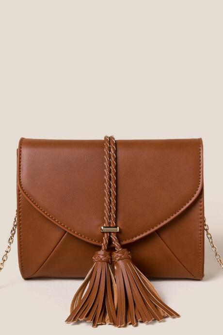 Zena Double Tassel Crossbody