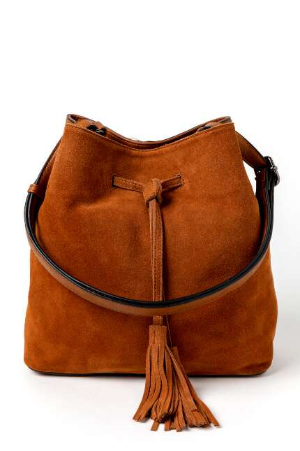 Dawn Suede Bucket Handbag
