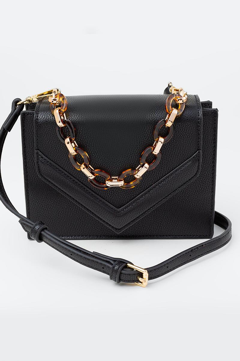 Stacey Mini Envelope Crossbody w Tort Chain
