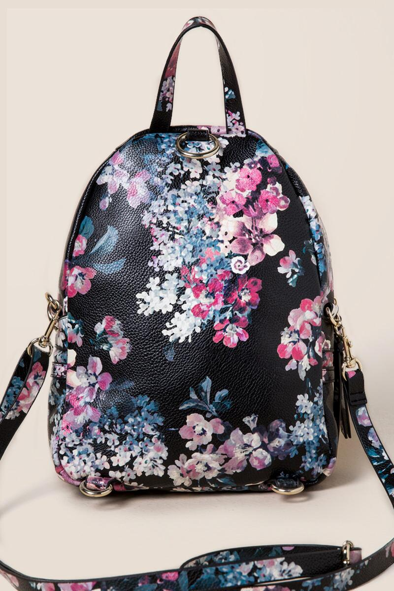 Darcy Floral Mini Backpack- blk-clback 1f93d37e6b1b3