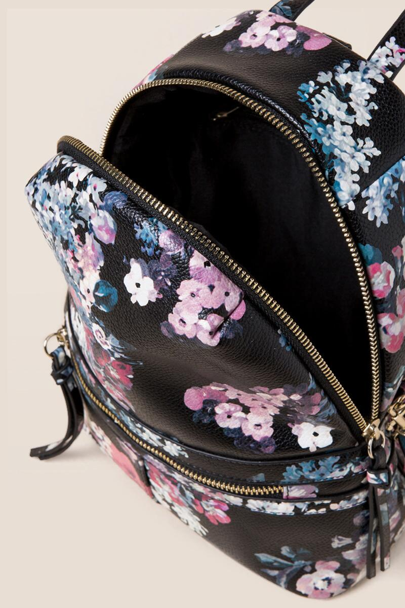 Darcy Floral Mini Backpack- blk-clinside 61cda97f2ad53