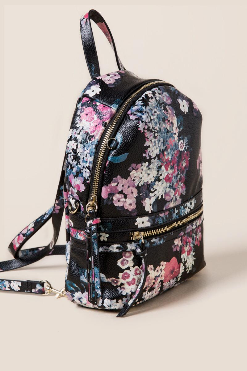 Darcy Floral Mini Backpack- blk-clside 538512d5146f6
