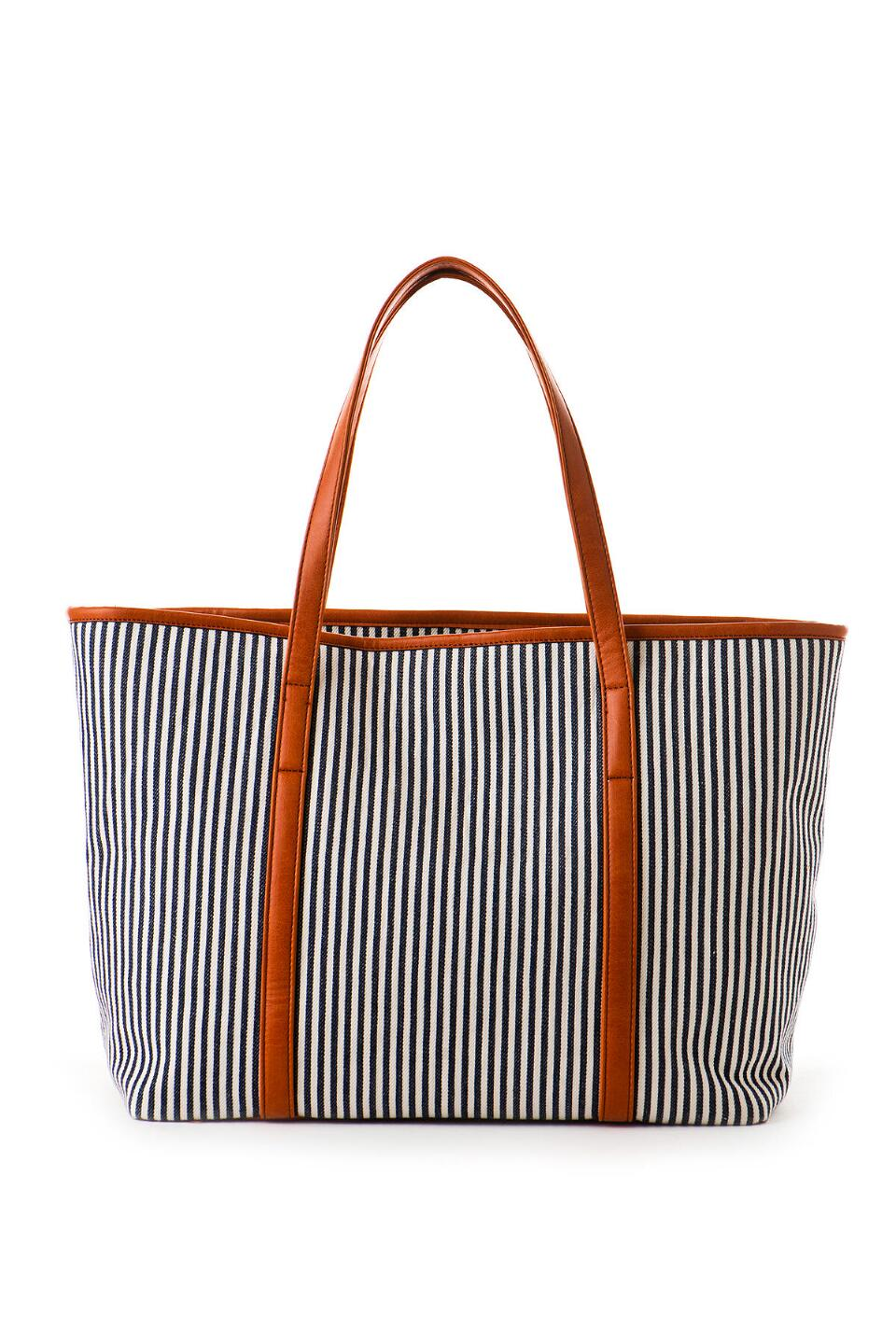 Santa Monica Stripe Tote-  blue-cl
