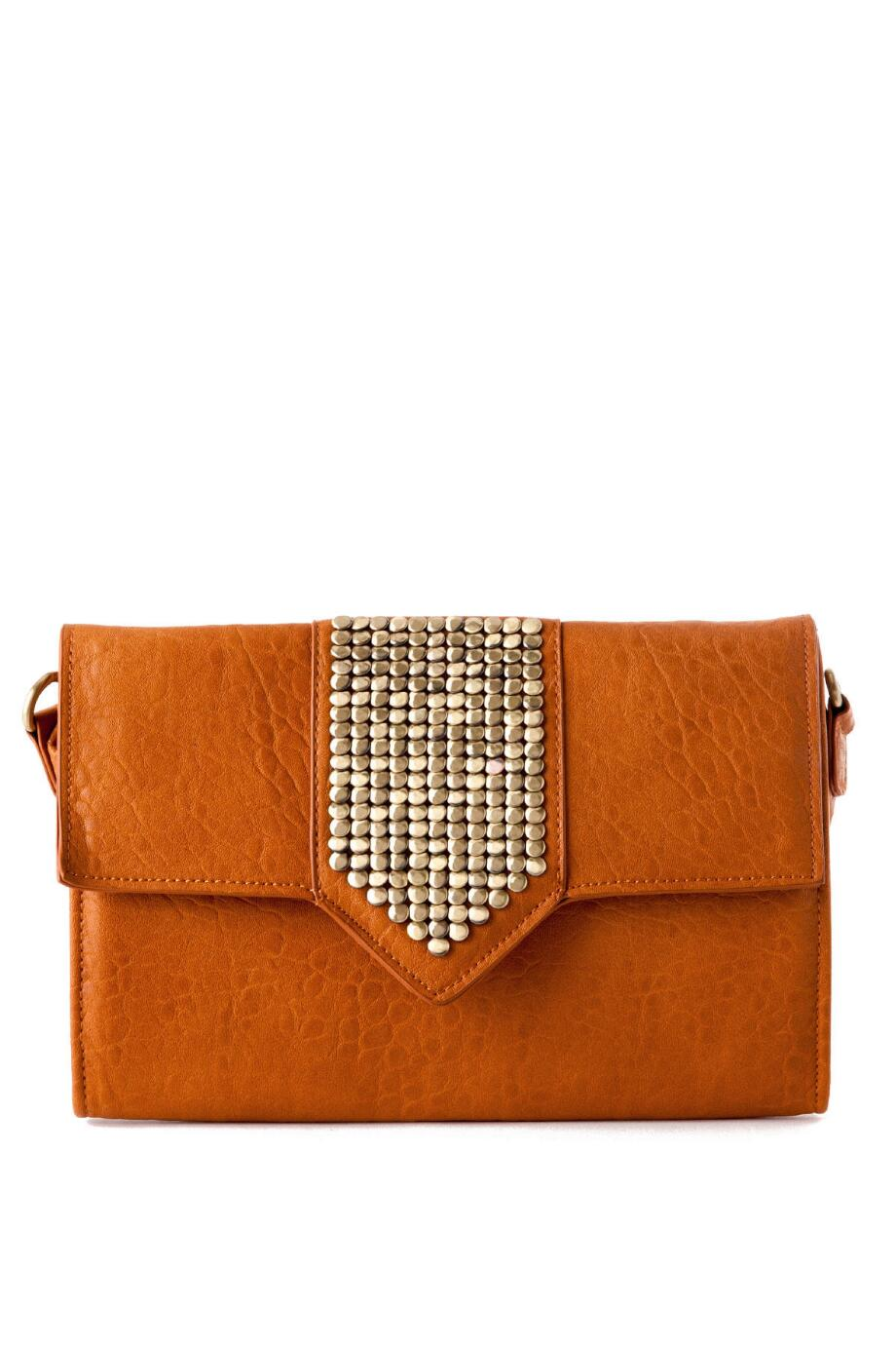 Brooklyn Stud Flap Clutch