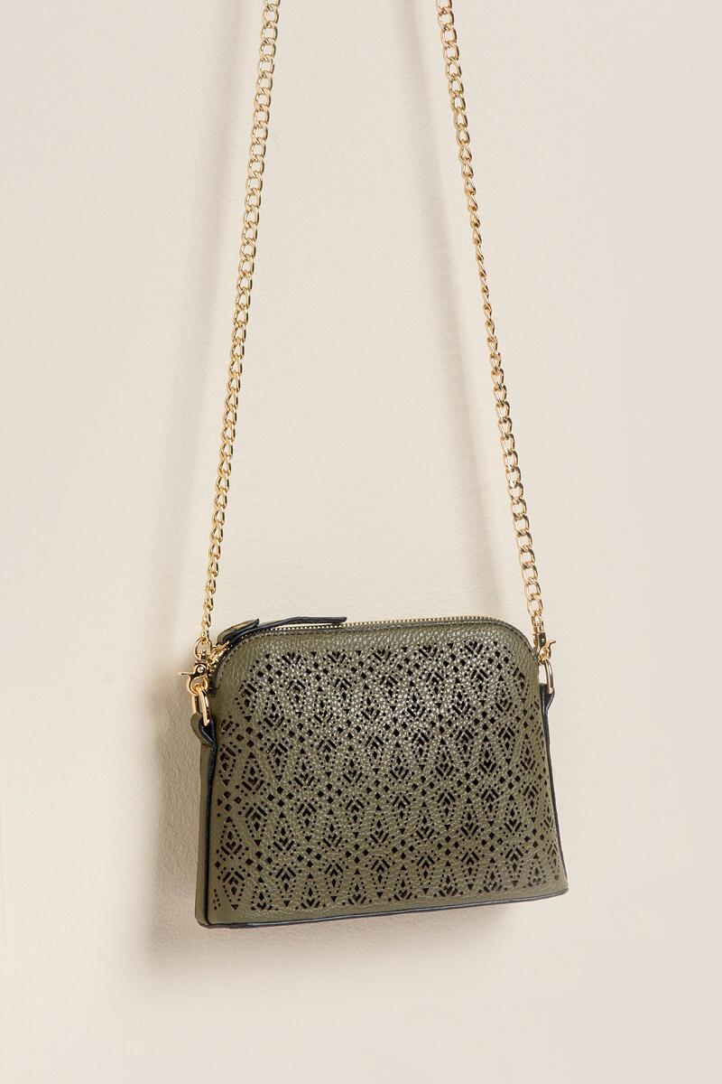 Navarro Perforated Crossbody-  olv-cl