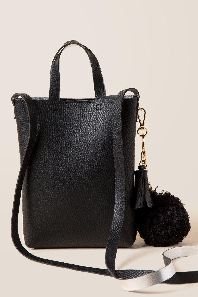 Calandra Mini Tote Crossbody-  blk-cl