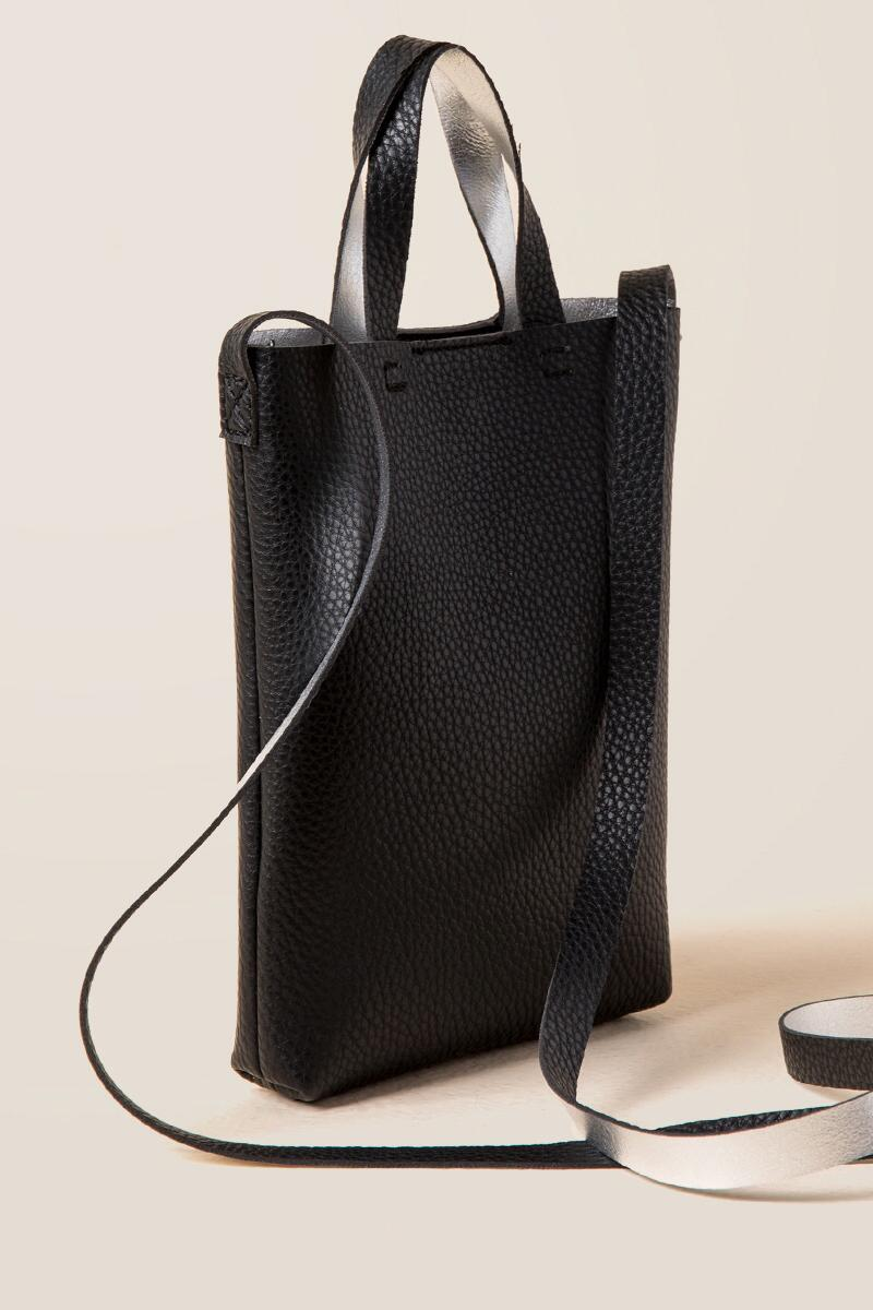 Calandra Mini Tote Crossbody-  blk-clside