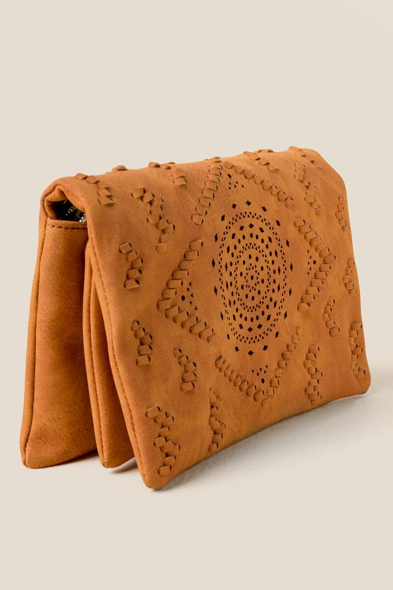 Waverly Perforated Crossbody-Cognac 2