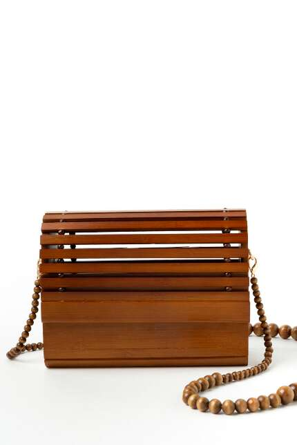 Ella Wooden Domed Bead Chain Crossbody