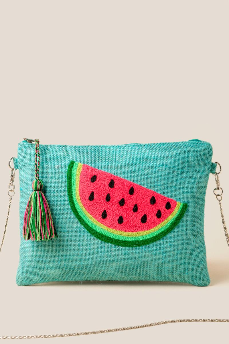 Eleanor Watermelon Crossbody-  grn-cl