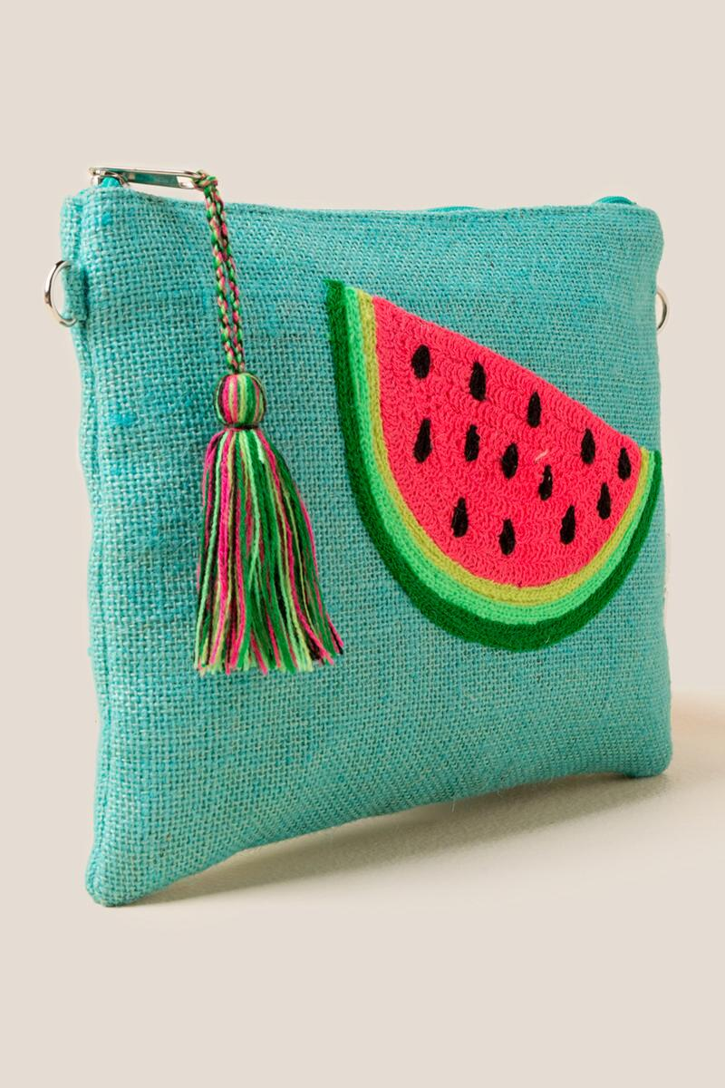 Eleanor Watermelon Crossbody-  grn-cl2
