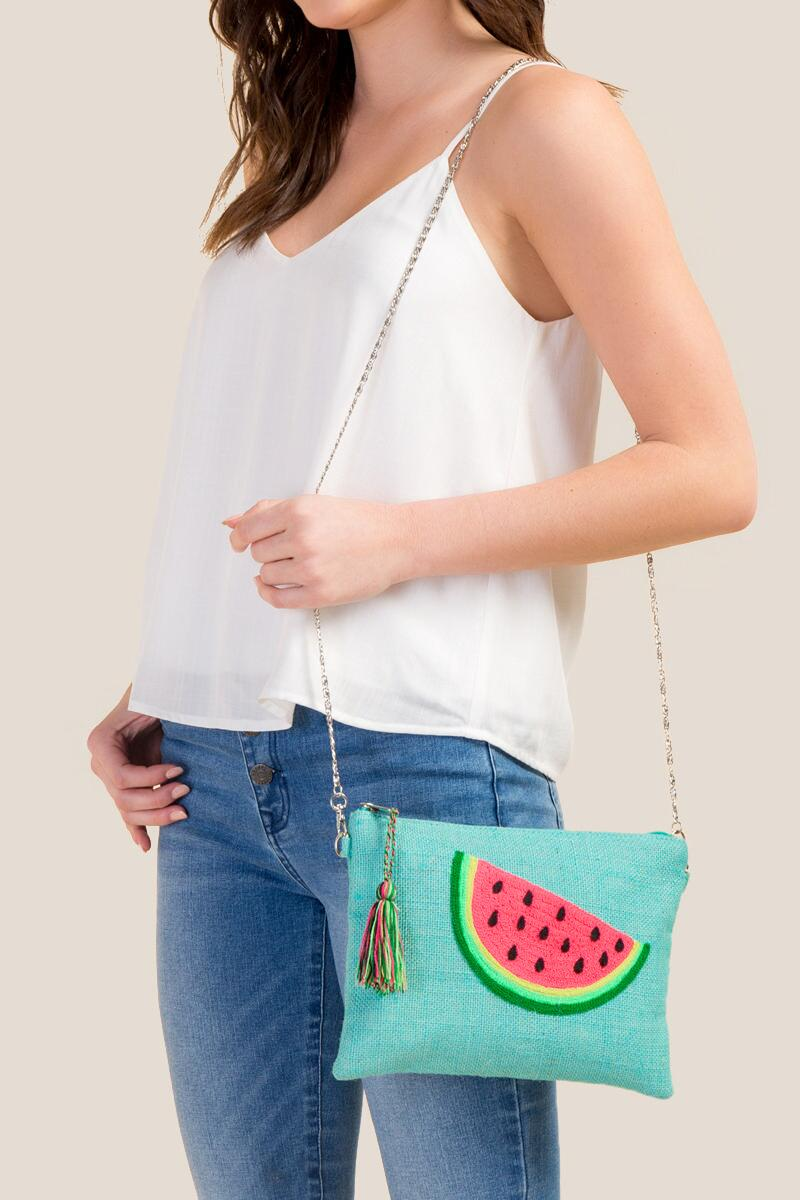 Eleanor Watermelon Crossbody-  grn-cl4