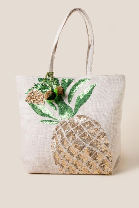 Piper Sequin Pineapple Tote