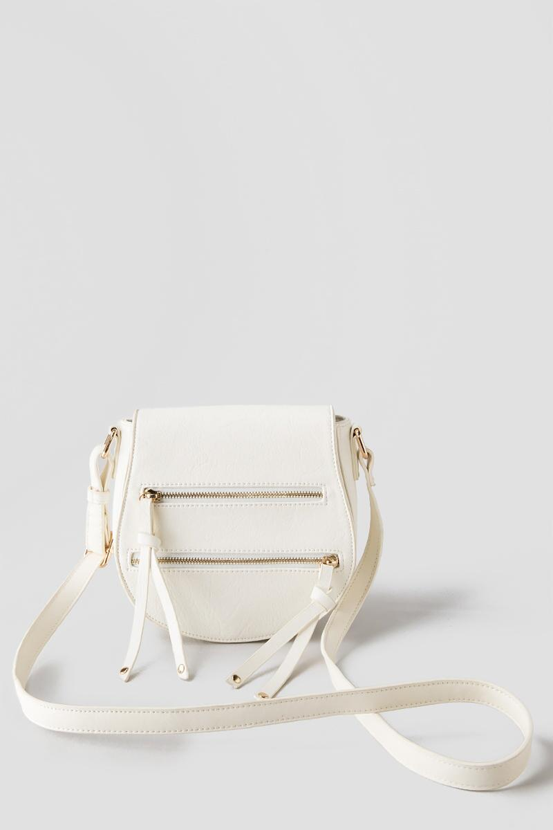 Cassie Saddle Crossbody Bag-  ivry-clfront