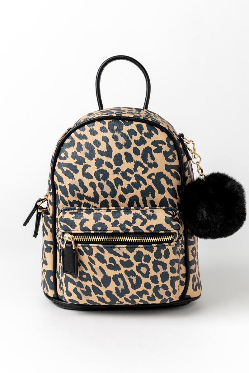 Gina Leopard Backpack-  leop-cl