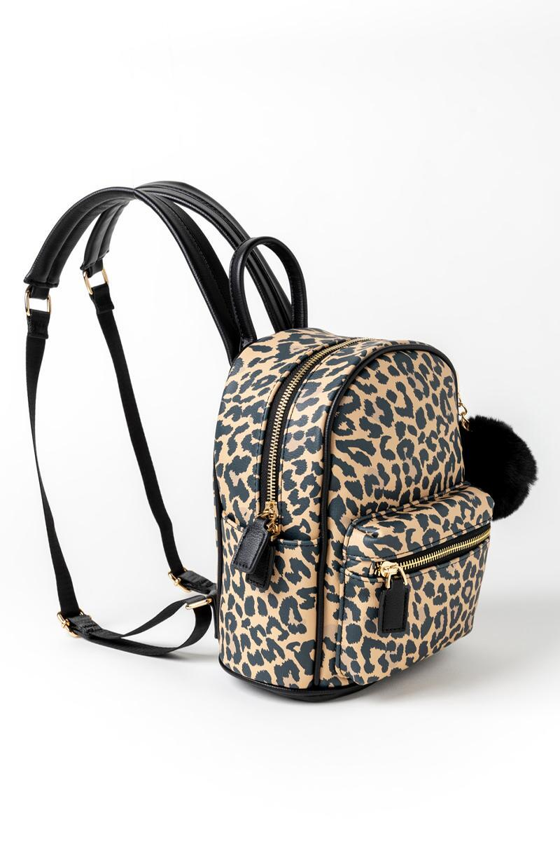 Gina Leopard Backpack-  leop-cl2