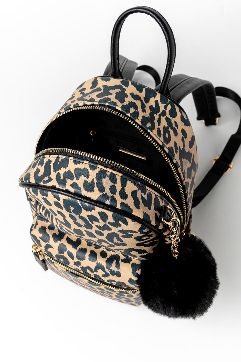 Gina Leopard Backpack-  leop-cl3
