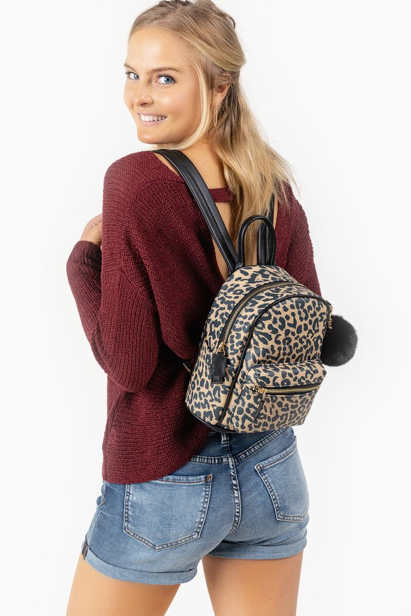 Gina Leopard Backpack-  leop-cl4