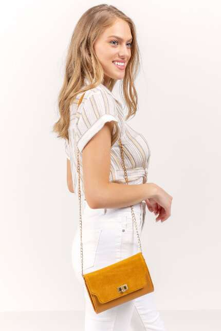 Suede Top Crossbody