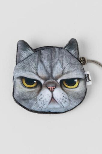 Cute Angry Cat Pouch