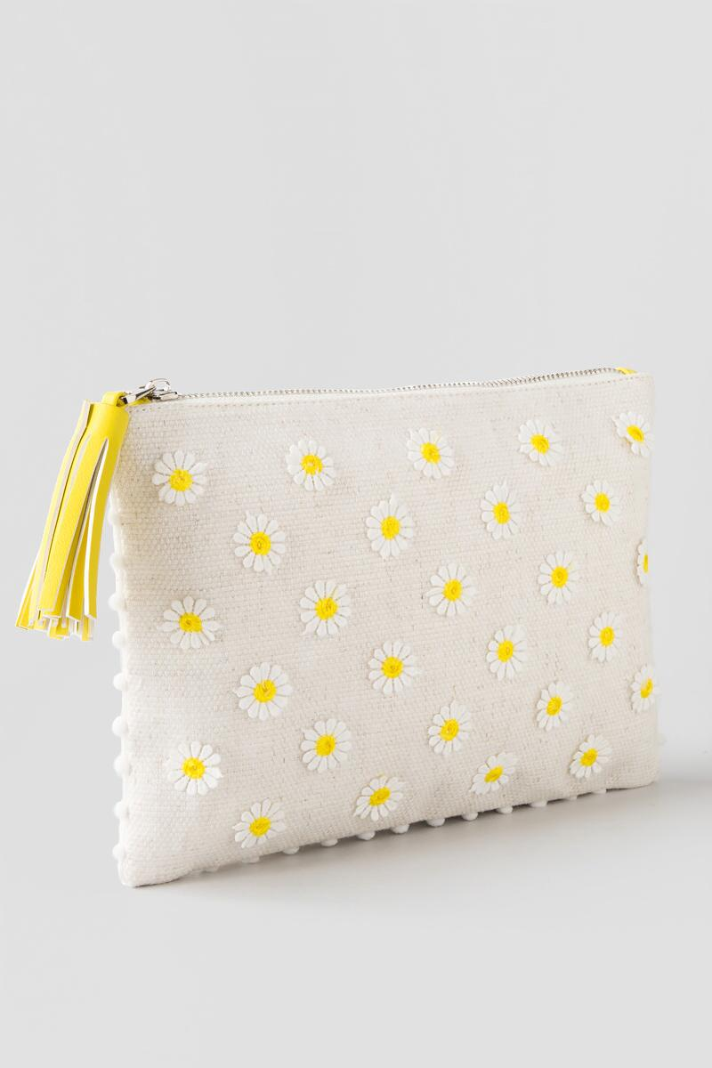 Shasta Flower Clutch-  nat-clside