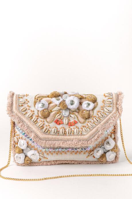 Sue Shell And Beaded Clutch