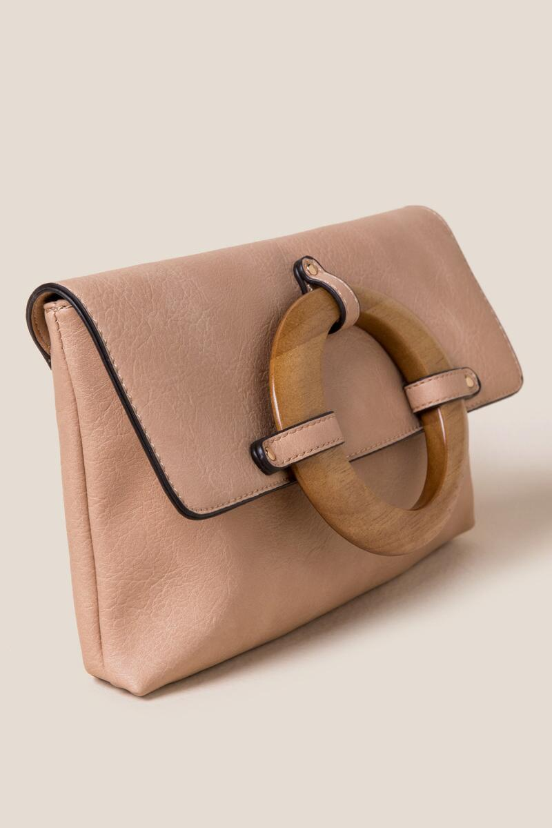 Sydney Wood Handle Clutch-Natural 2
