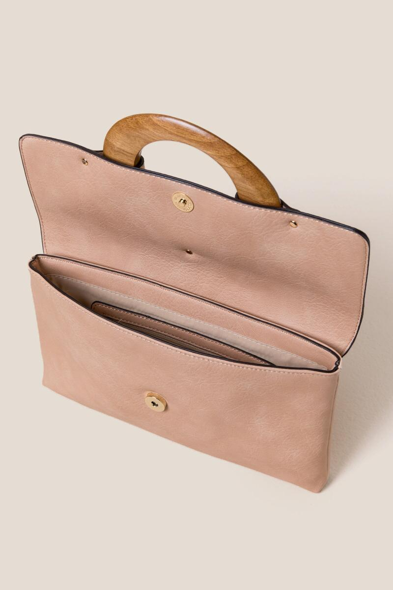 Sydney Wood Handle Clutch-Natural 3