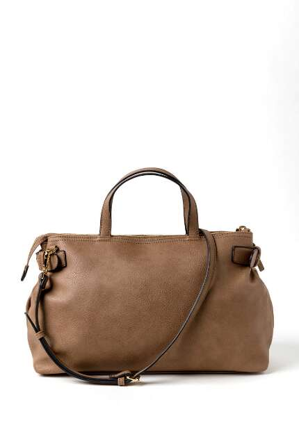 East West Buckle Satchel