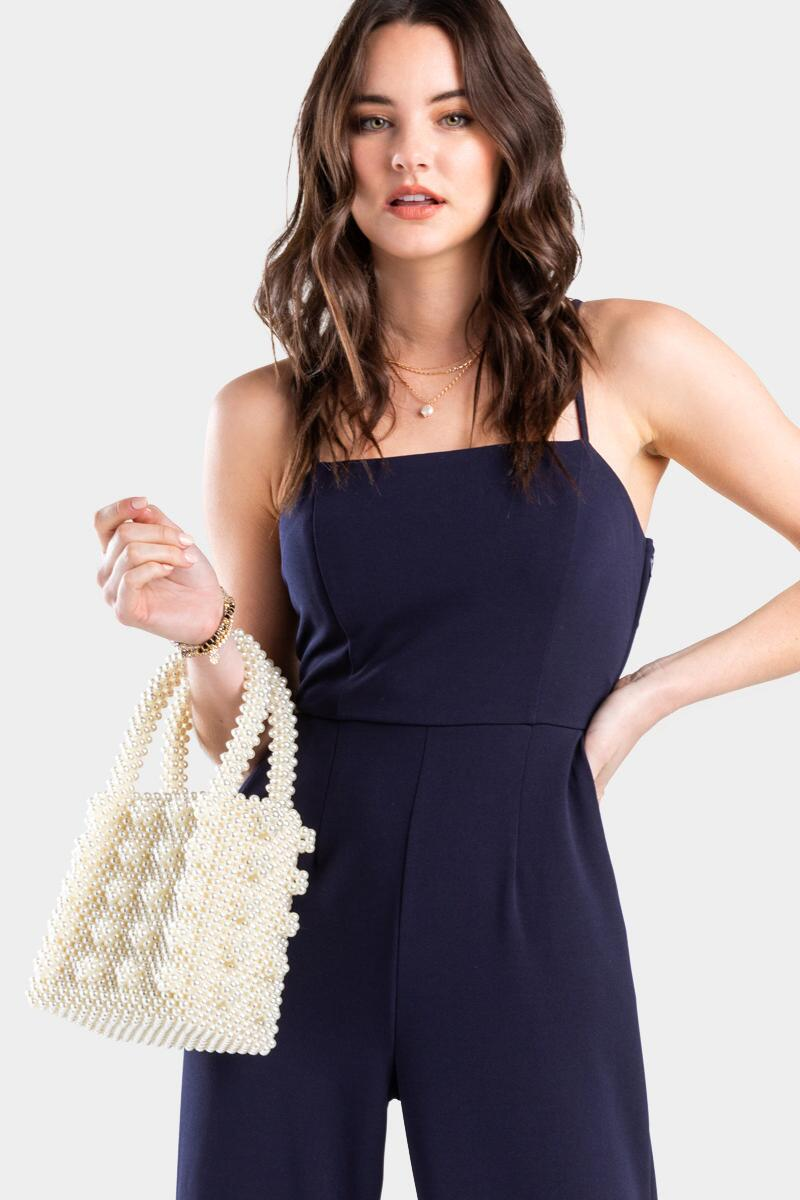 Erin Beaded Pearl Tote-  ivry-cl2