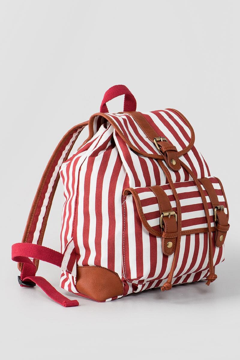 Maggie Stripe Backpack-  red-clalternate2