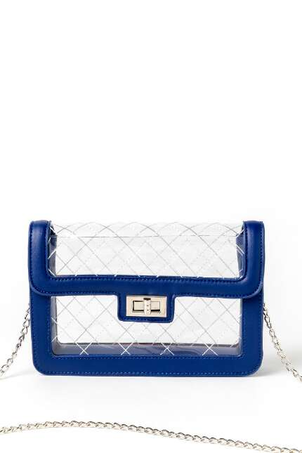 Chris Quilted Clear Crossbody