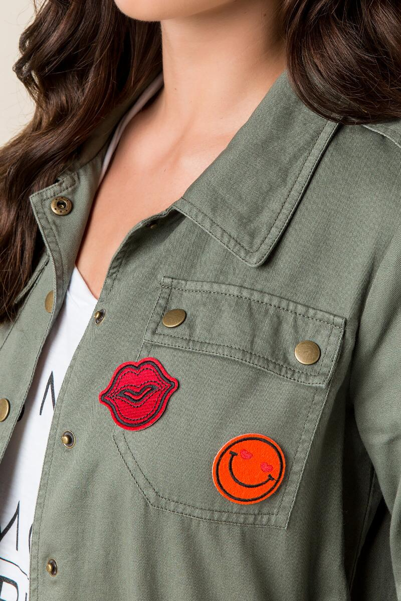 Smile & Lips Patches-  red-clmodel