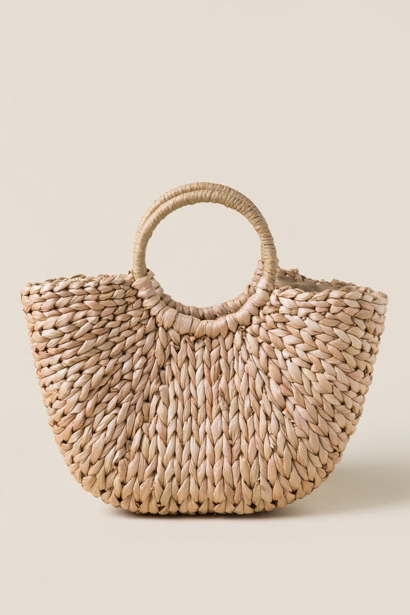 Jade Straw Tote