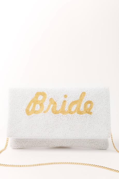 Shirdee Beaded Bride Clutch