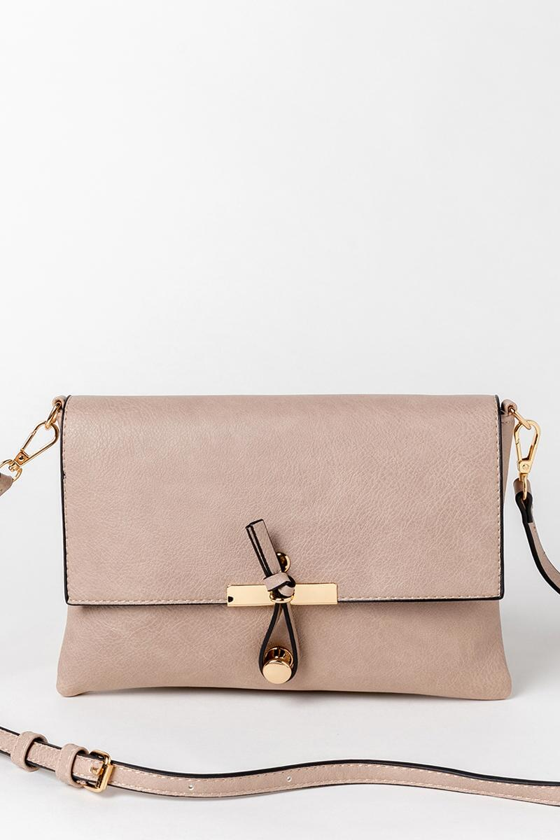 Jill Solid Front Hook Crossbody