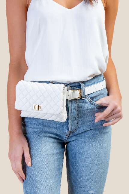 Sadie Quilted Convertible Belt Bag