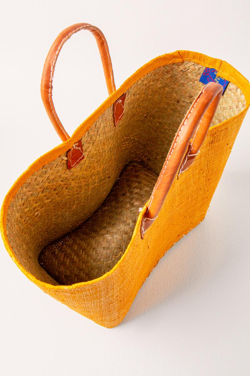 Sally Simple Woven Tote- Mustard 3