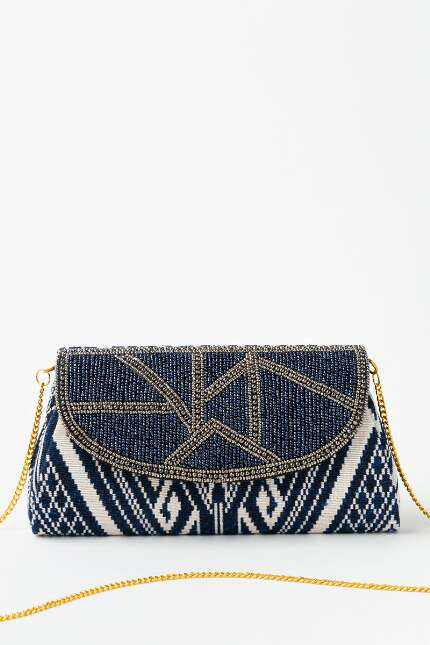 Veronica Bead Flap Clutch