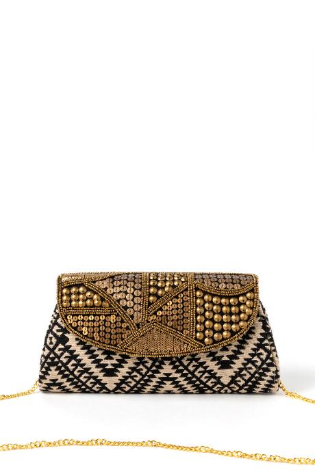 Lydia Metal Beaded Clutch