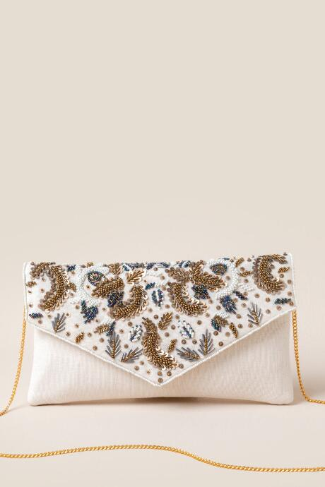 Ariella Leaf Beaded Clutch
