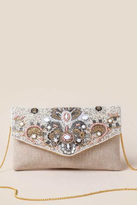 Iris Multi Beaded Clutch
