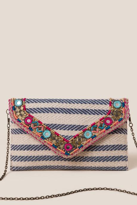 Finley Embellished Clutch
