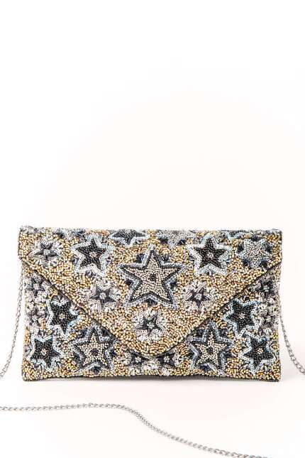 Mona Star Beaded Clutch