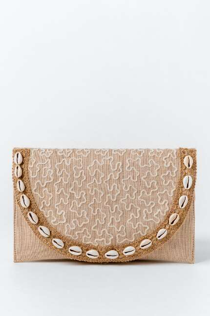 Allie Shell Fold Over Clutch