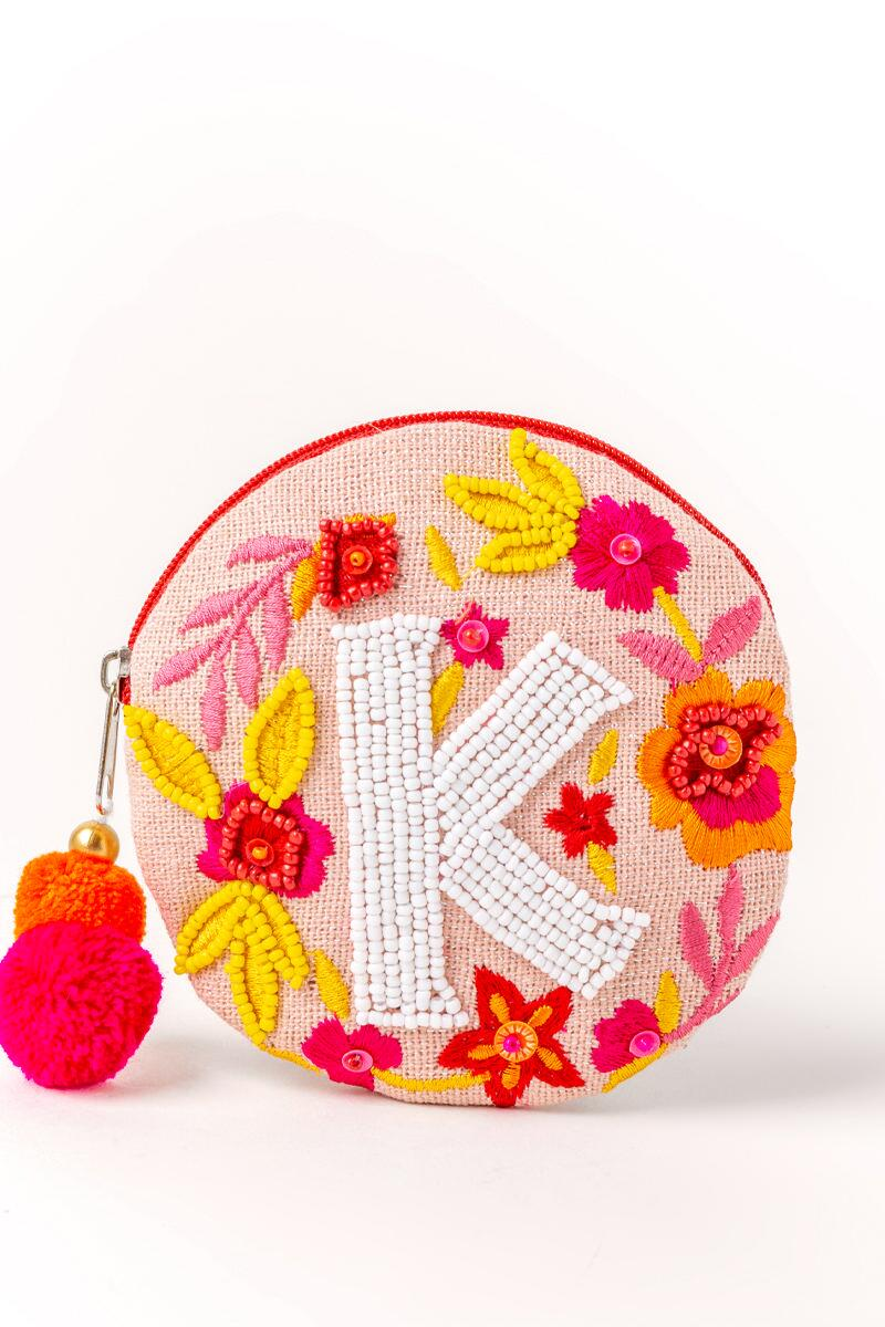 Fran's Initial Coin Round Purse-k-cl