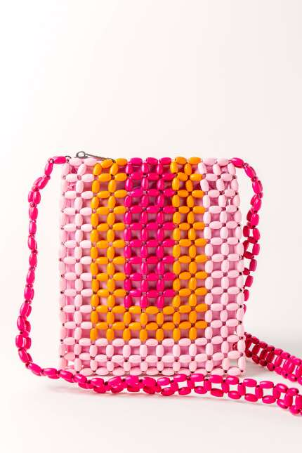 Multi Color Beaded Crossbody